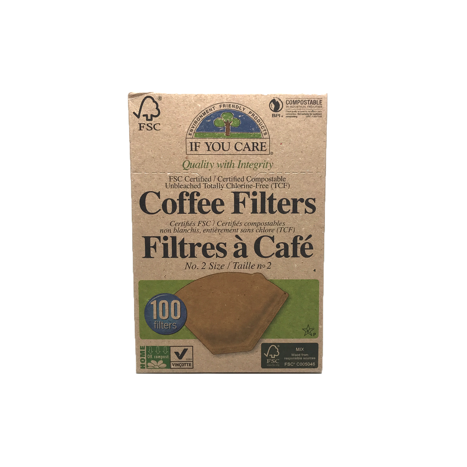 If You Care Unbleached Coffee Filters #2 100 Pack