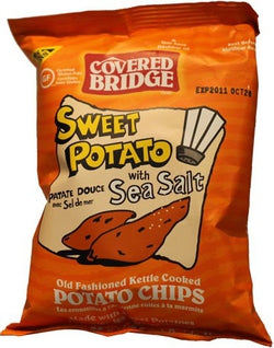 Covered Bridge Sweet Potato Chips with Sea Salt 142g