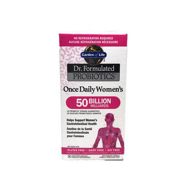 Garden of Life Dr. Formulated Probiotics Once Daily Women's 50 Billion 30 Vegetarian Capsules