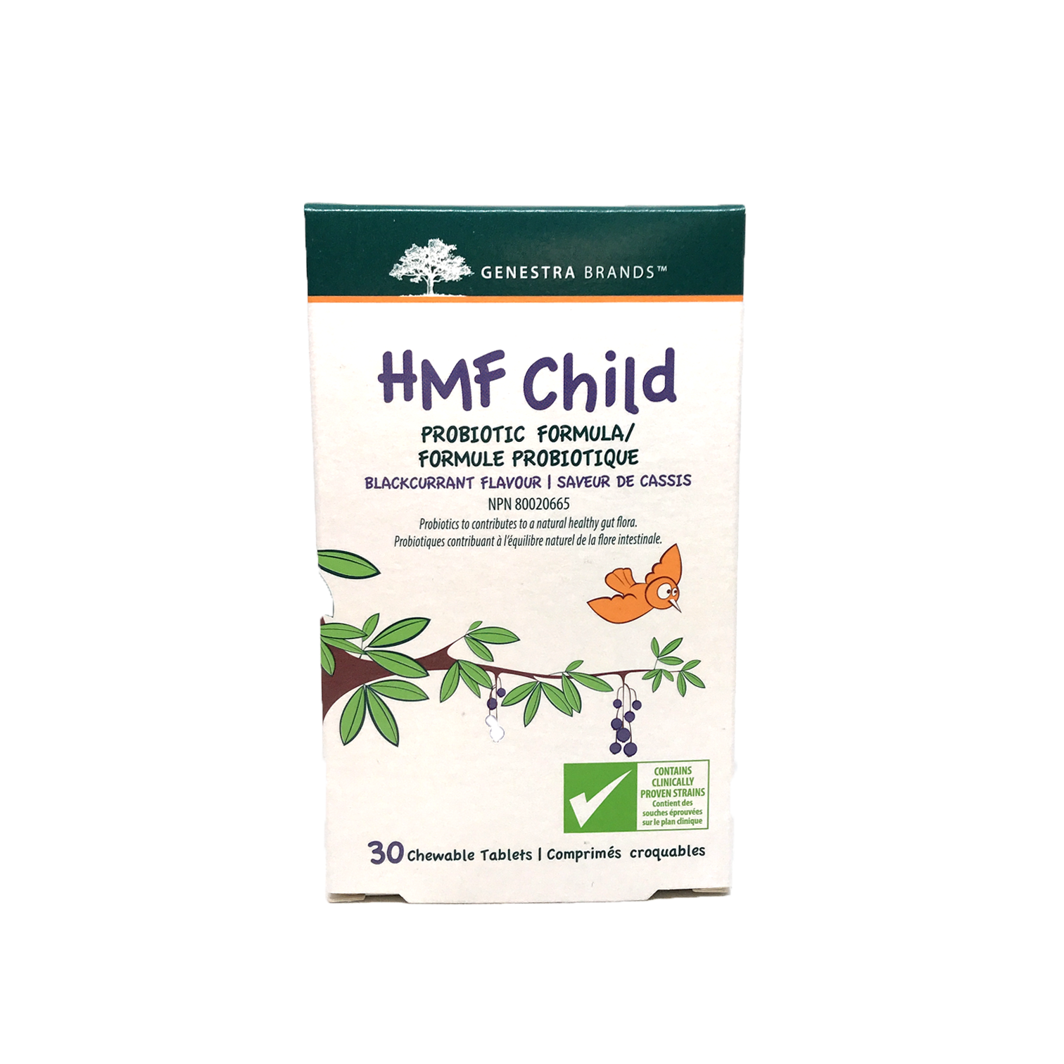 Genestra HMF Child Chewable Probiotic 30 Tablets(Black Currant)