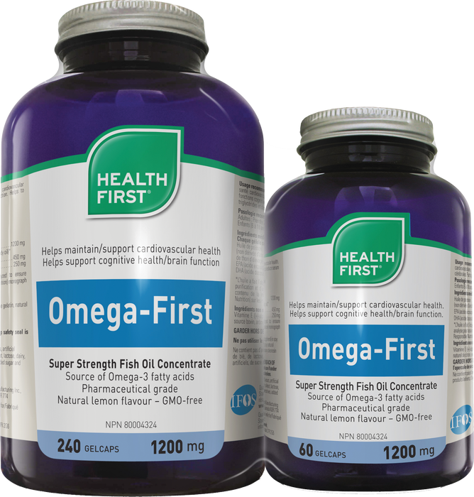 Health First Omega-First Omega 3 Fish Oil Bogo 240Capsules + 60 Capsules Bonus  Buy Canada, Buy Local, Buy Independent.