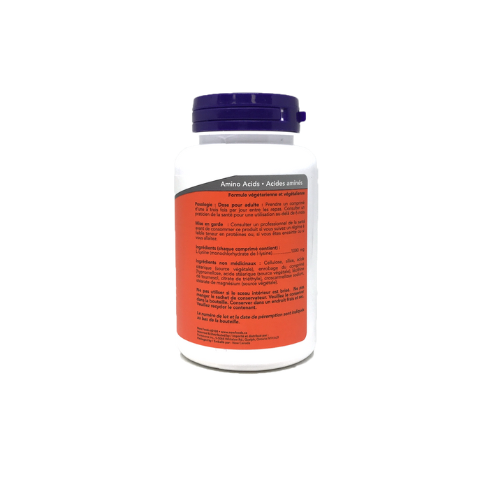 Now L-Lysine 1000mg Extra Strength 100 Tablets