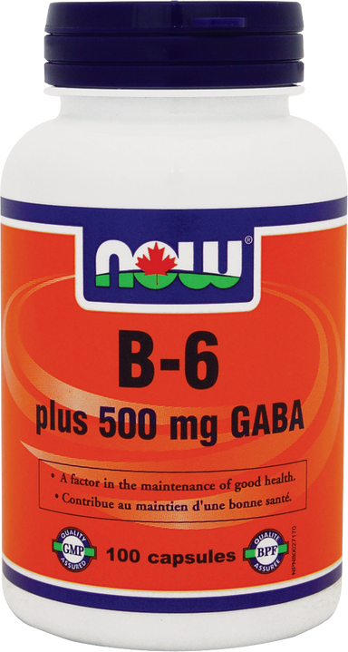 Now B-6+ 500mg Gaba 100 Capsules