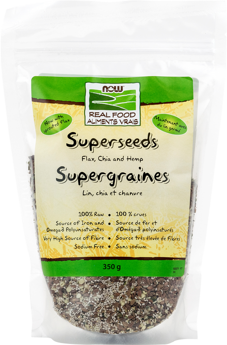 NOW Superseeds Flax,Chia,Hemp 350g
