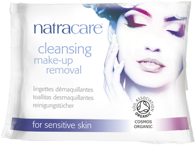Natracare Wipes Organic Make-Up Removal 20 Wipes