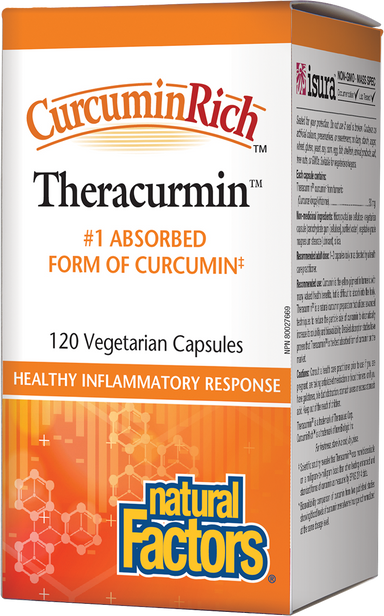 Natural Factors CurcurminRich Theracurmin 30mg 120 Vegetarian Capsules