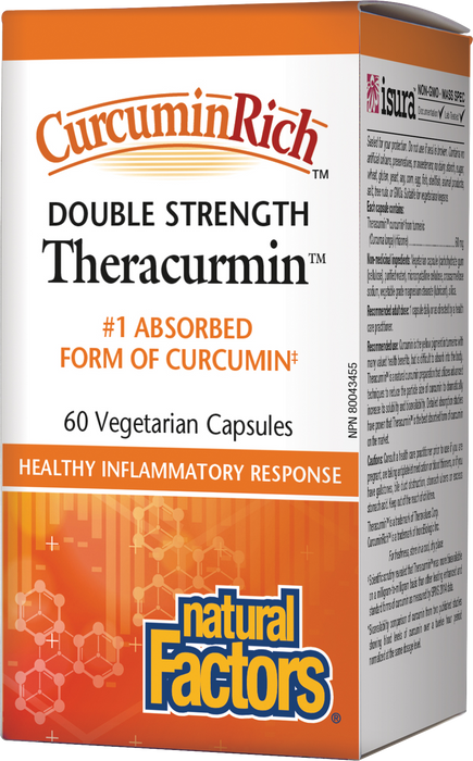 Natural Factors CurcurminRich Theracurmin Double Strength 60mg 60 Vegetarian Capsules