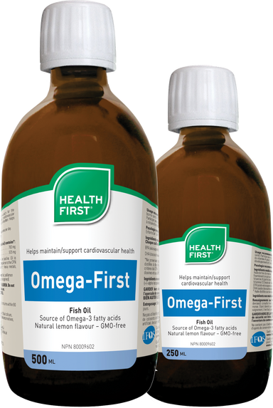 Buy Canada, Buy Local, Buy Independent.  Health First's Omega-First Liquid Fish Oil is a source of omega-3 fatty acids for the maintenance of good health.