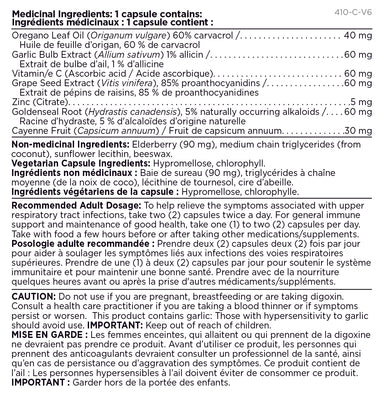 Platinum Naturals Cold & Flu Oregano-8 30 Vegetarian Liquid Capsules