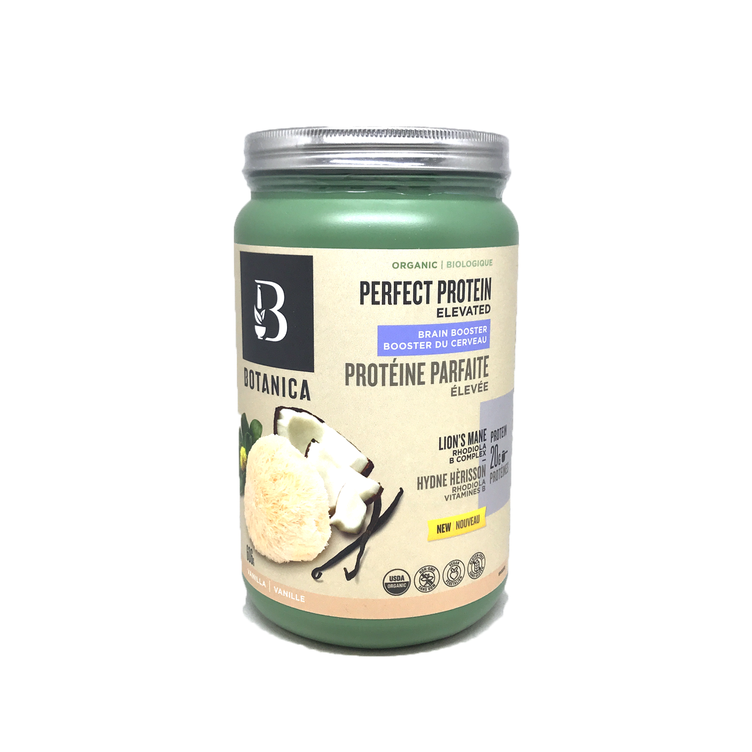 Botanica Organic Perfect Protein Elevated Brain Booster Vanilla 606g