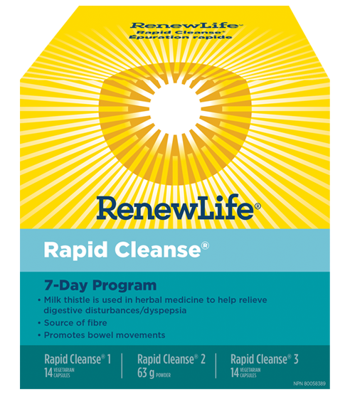 Renew Life Total Body Rapid Cleanse 7 Day Program