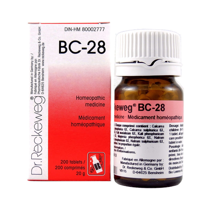 Dr. Reckeweg BC-28 200 Tablets 20g