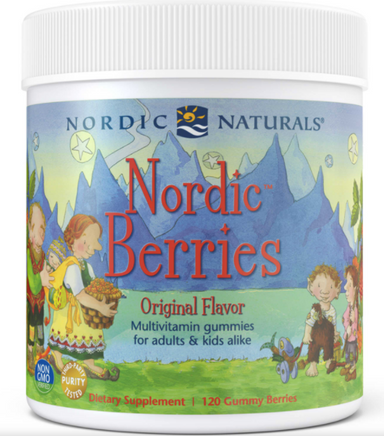 Nordic Berries multivitamin gives kids (and adults) the daily vitamins and minerals they need in a great tasting, gluten-free gummy.