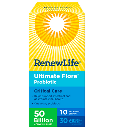 Renew Life Ultimate Flora 50 Billion Critical Care 30 Vegetarian Capsules