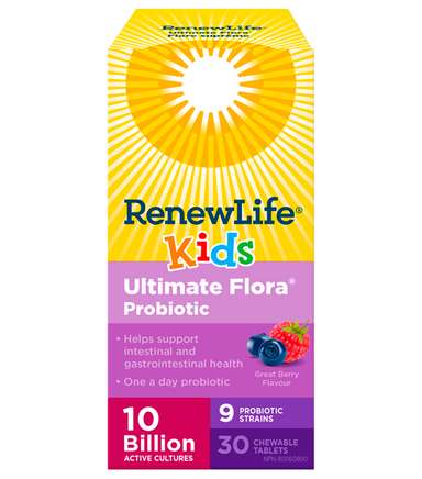 Renew Life Ultimate Flora Kids Probiotic 30 Chewable Tablets