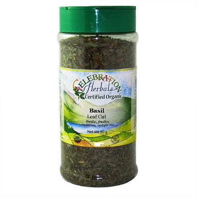 Celebration Herbals Basil Leaf Cut & Sifted Organic Large Bottle