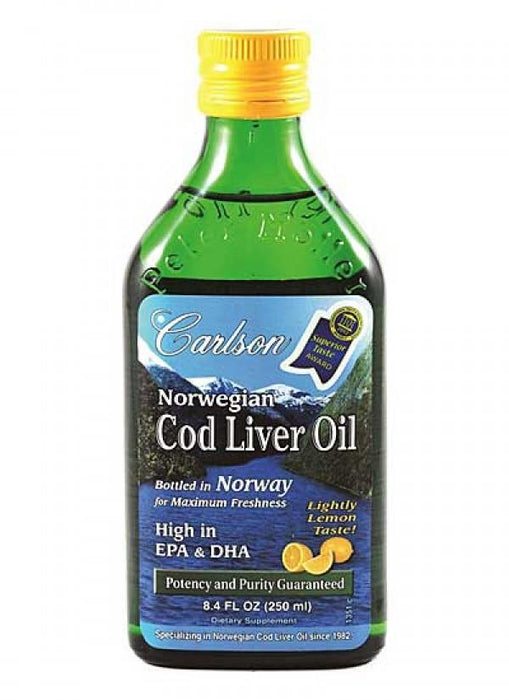 Carlson Norwegian Cod Liver Oil 250ml Lemon Flavour