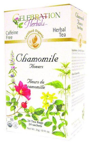 Celebration Herbals Chamomile Flowers Organic 24 Tea Bags