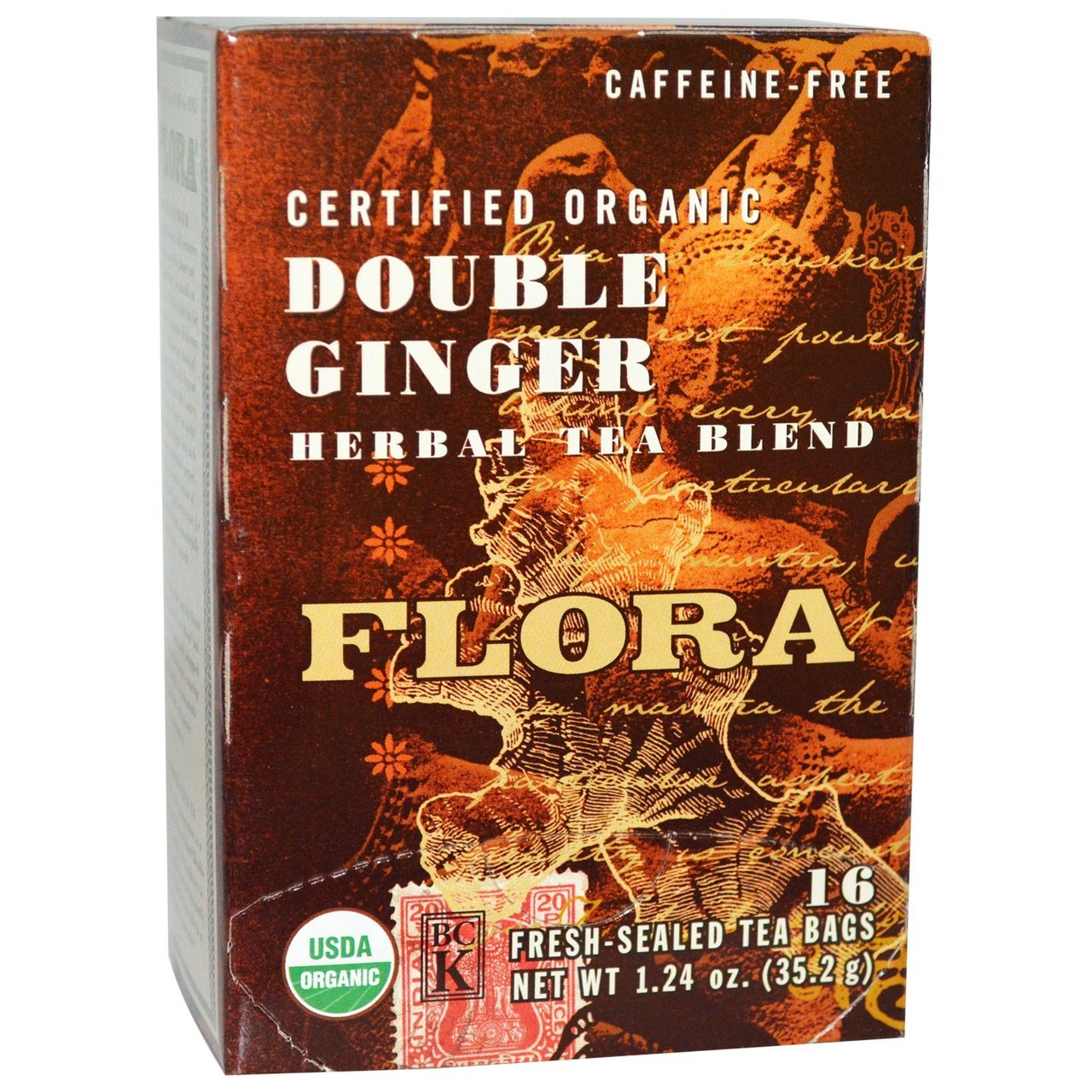 Flora Double Ginger 16 Tea Bags