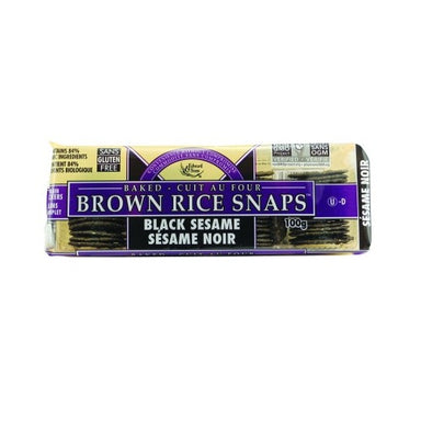 Edward & Sons Brown Rice Snaps Black Sesame Crackers 100g