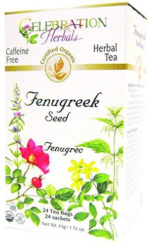 Celebration Herbals Fenugreek Seed Organic 24 Tea Bags