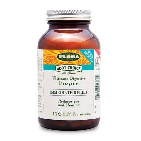 Flora Udo's Immediate Relief Enzyme 120 Capsules