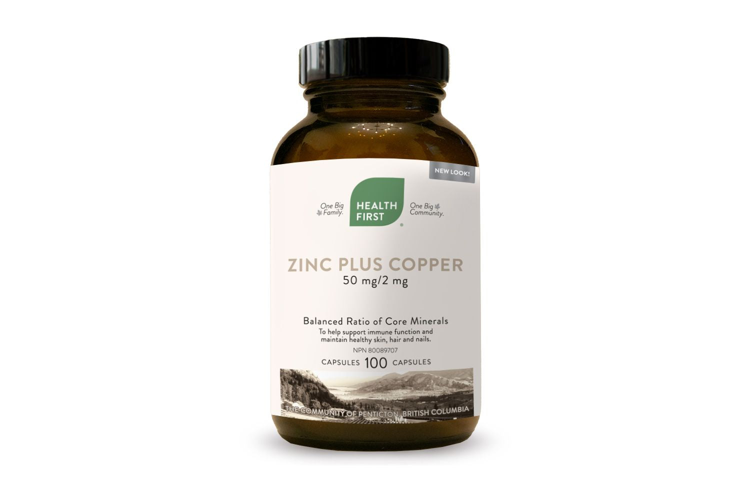 Health First Zinc Plus Copper 50mg/2mg 100 Capsules