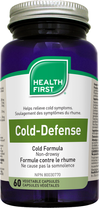 Health First Cold Defense Cold & Flu 60 Vegetarian Capsules