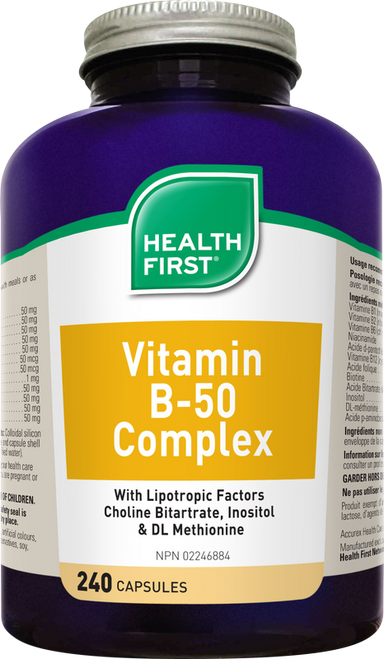 Health First Vitamin B-50 Complex 240 Capsules