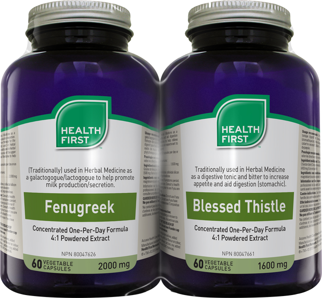 Health First Fenugreek/Blessed Thistle 60s Duo Pack 2x60 Capsules