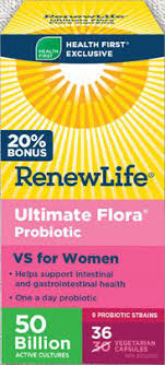 Renew Life Ultimate Flora Probiotic VS for Women 50 Billion BONUS 36 Vegetarian Capsules
