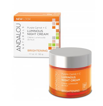 Andalou Purple Carrot + C Luminous Night Cream 50ml