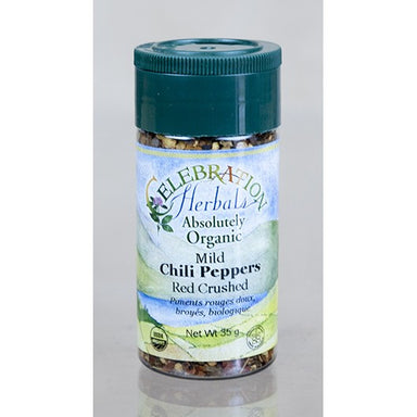 Celebration Herbals Chilies Red Crushed (Medium) Organic 3.5 oz