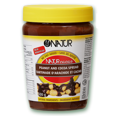 Natur Cacao Peanut Butter And Cocoa Spread 500g