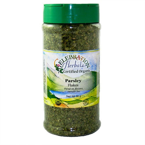 Celebration Herbals Parsley Flakes Organic Large Bottle