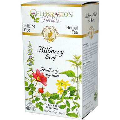 Celebration Herbals Bilberry Leaf Organic 24'S