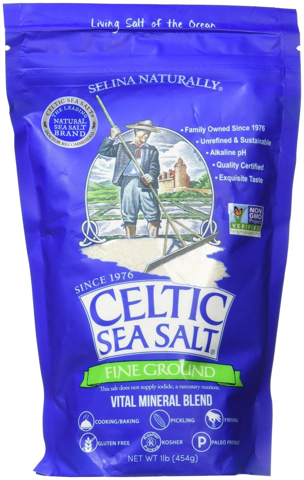 Celtic Fine Ground Resealable Bag 454g