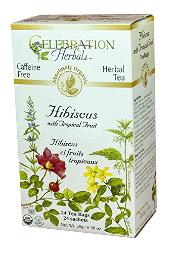 Celebration Herbals Hibiscus With Tropical Fruit Organic 24 Tea Bags