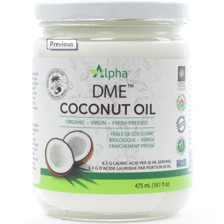 Alpha DME Virgin Coconut Oil Certified Organic 475ml
