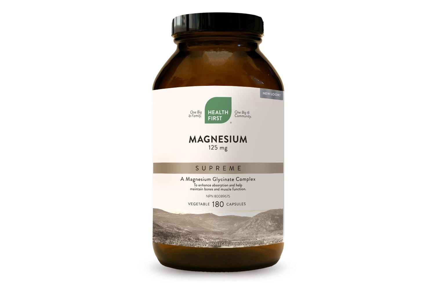 Health First Magnesium Supreme 125mg 180 Vegetarian Capsules