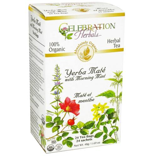Celebration Herbals Yerba Mate Organic 24 Tea Bags