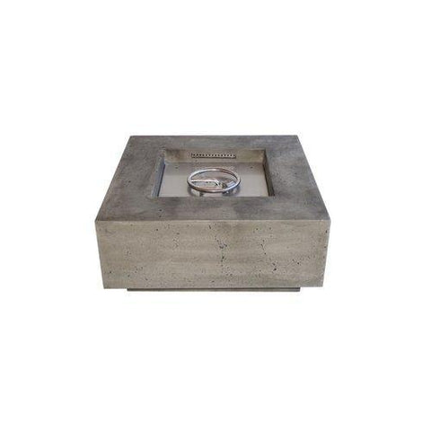 "Image of Fire Table - VIVID E III - 48"" Large Square Cement Fire Table (Pewter)"