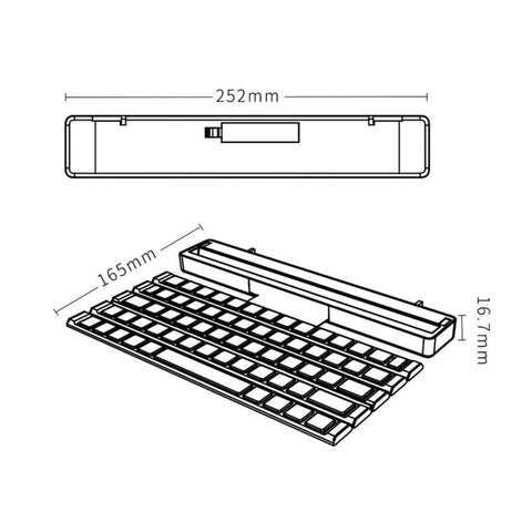 Image of Foldable Wireless Bluetooth Keyboard