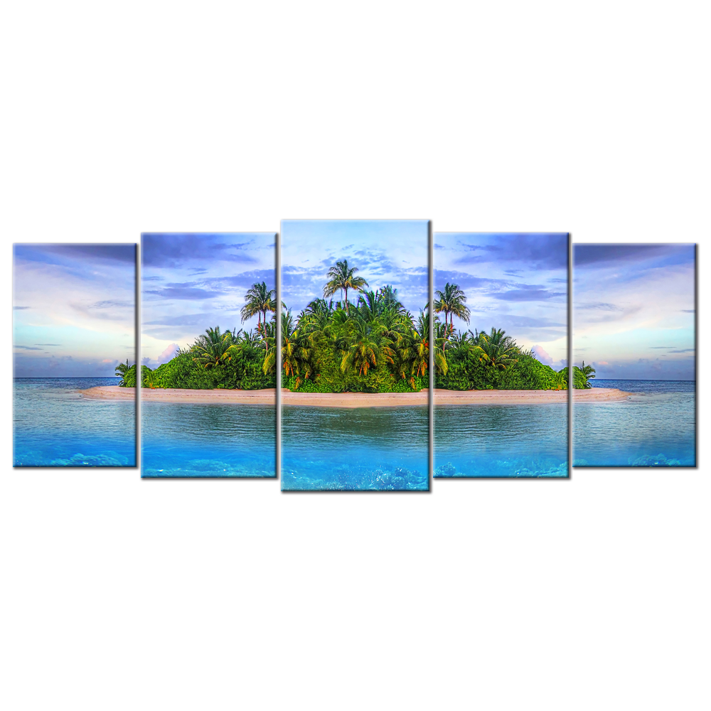 Sea Islands And The Underwater - 5 panels XL