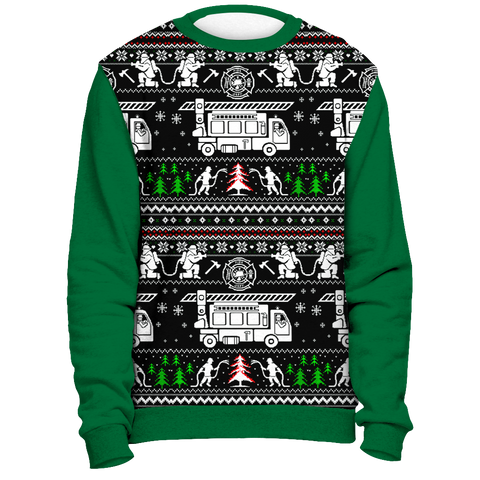 Image of Christmas Firefighter - Ugly Sweater