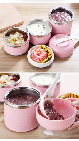 Portable Cute Mini Japanese Leak-Proof Stainless Steel Thermal Lunch Box - Portable Cute Mini Leak-Proof Stainless Steel Thermal Lunch Box