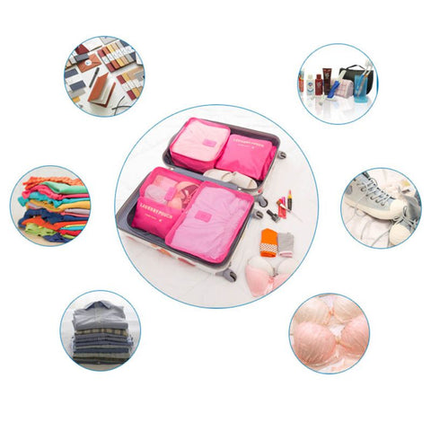 Premium Waterproof Travel Storage Bag Set - 6 Pieces