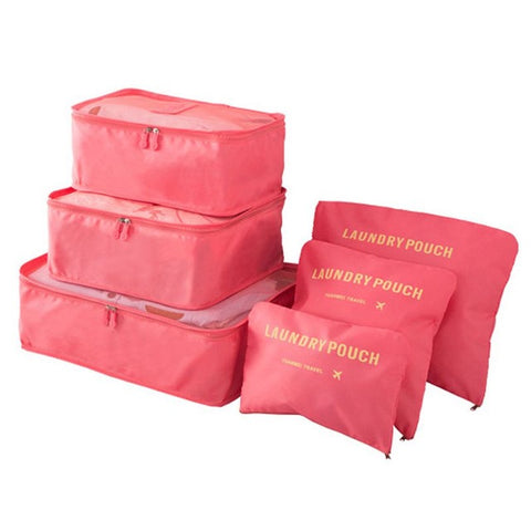 Image of Premium Waterproof Travel Storage Bag Set - 6 Pieces