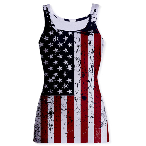 Sublimation Tank Tops - USA Flag Faded - Tank Top