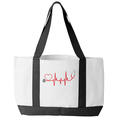 Tote Bags - Limited Edition - Tote Bag - EMS Nurse Doctor Love Pulse